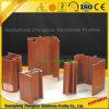 Profil en aluminium des graines en bois pour la décoration de guichet et de porte