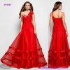 E18491 A floral - línea princesa Prom Dress con el un amor atractivo del hombro y el Organza largo de la Suelo-Longitud