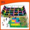 Kind-rechteckiges Innentrampoline-Park-Eignung-Bett mit Netz-Schaumgummi-Vertiefung für Verkauf