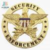 Diseño Libre Venta caliente Águila personalizado insignia de solapa de la policía logotipo insignia de la seguridad de metal