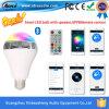 2015의 새로운 형식 지능적인 LED 전구 스피커 지능적인 다채로운 LED Bluetooth 스피커 지능적인 전구