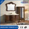 Module de salle de bains antique classique imperméable à l'eau en bois solide de modèle