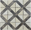 Mosaico della pietra del marmo delle mattonelle di mosaico del triangolo (HSM181)