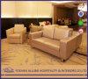 아시아 현대 알루미늄 0708 오크 단단한 나무 가죽은 힐튼 호텔 가구 거실 2인용 의자 소파 가구를 간단하게 한다