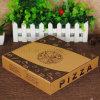 Caisse d'emballage noire de pizza de Corragated de papier d'imprimerie de logo