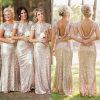 Preiswerte formale Abschlussball-Abend-Kleider schließen Hülsen-Sequined Brautjunfer-Kleid kurz