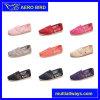 Chaussures plates de couleur de sucrerie de lacet confortable coloré