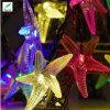 Lumières solaires de chaîne de caractères d'étoile de mer de DEL