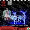 DEL allumant la lumière de motif de cerfs communs d'adhérence de colle de décoration de Noël de 4*2.5m