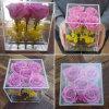 Rectángulo de acrílico por encargo de la flor del regalo hecho a mano de la flor del 100%