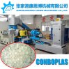 Scarti asciutti puliti dei fiocchi della bottiglia dell'animale domestico lavati plastica che granulano la macchina di pelletizzazione