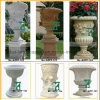 Jardim Flowerpot à mão Carved de Marble Vase Stone do granito (YKFP-33)