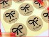 Étiquette adhésive de collant estampée par étiquette ronde de collant de papier d'emballage