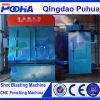 Q32 гусеничный резиновый ремень дробеструйная очистка машины для металлических деталей