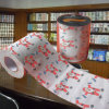 Noël a estampé l'essuie-main personnalisé par roulis de tissu de salle de bains de papier de toilette