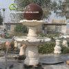 Fontana di pietra naturale della sfera dello stagno del giardino