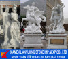 Marble blanc Carved Statue avec Base