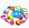 カスタム飼い犬の咀嚼のかみ傷ロープの結び目の球のおもちゃセット