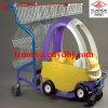 Supermarkt-Kind-Plastikspielzeug-Einkaufen-Baby-Brandwunden-Karre