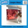 Vidrio decorativo del espejo de plata rosado