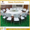 Table pliante en plastique Table ronde Table ronde avec tube en métal