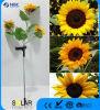 プラスチックヒマワリデザイン庭またはヤードのための太陽棒ライト