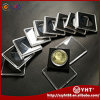 Étalage acrylique clair carré Capules de pièce de monnaie avec la circulaire intérieure
