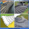 川の転換のGabionの六角形の壁
