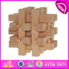 Kongming Wooden Lock Educational Toy para Kids, Latest Wooden Toy Lock Toy para Children, Wooden Cross Lock Toy para Baby W03b024