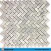 Marmeren Mozaïek van het Patroon van de Golf van Carrara het Witte Marmeren