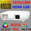 Householdのための1080P LED Projector Full HDMI Video Projector