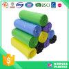 プラスチック多彩で使い捨て可能なロールによって詰められるごみ袋
