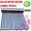 Systeem van de Verwarmer van het Hete Water van Pressuried van de Pijp van de Hitte van het roestvrij staal het Zonne