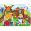 Mulino a vento di legno dell'attrezzo del giocattolo del gioco di parete di puzzle per i capretti