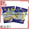 Bolso plano plástico modificado para requisitos particulares del sellado caliente de la impresión de la insignia para los tallarines