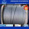 Corde enduite galvanisée 1X19 1X7 1X37 de fil d'acier de fil d'acier de zinc de brin de fil d'acier