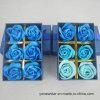 애인을%s 낭만주의 Artifiial 파란 로즈 비누 꽃 선물 상자