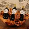 Cremagliera di legno Handmade naturale intagliata del vino della cremagliera del vino