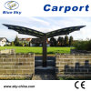 Carport double en aluminium polycarbonate pour garage automobile (B810)