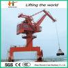 Hydraulic Grab Bucket를 가진 배 Unloading Marine Port Cranes