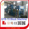 Machine de fabrication de brique automatique de ciment de pression hydraulique (QT8-15)