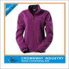 Полная куртка ватки женщин застежка-молнии с изготовленный на заказ печатание логоса