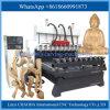 Máquina de gravura do gravador do router do CNC da linha central da cabeça 4 do multi router do CNC do eixo multi