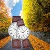 Relógios de casal de aço inoxidável de alta qualidade, Relógio Quartz Lover 70030