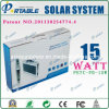Solar portátil 15W Sistema de casa para el exterior / Camping / Viajar (PETC-FD-15W)