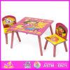 2015 La nueva mesa de madera silla juguete para la venta, la preciosa mesa de madera de diseño de alta calidad y una silla, mesa de comedor y una silla Set W08G103