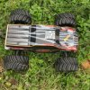 Carro elétrico do chassi 4WD RC do metal com energia eléctrica
