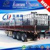 運ぶ3つの車軸動物かバルク貨物トレーラーを半囲う
