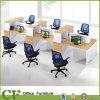 Bureau économique en bois de 6 sièges Station de travail avec étagère un10338CF-P