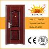 鋼鉄表玄関デザイン外部ドアの鉄の単一のドア(SC-S030)